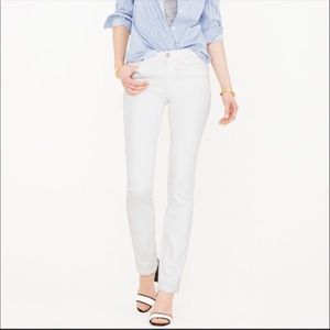 NWT J.Crew White Wash Straight & Narrow Jean 24